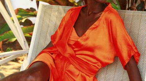 Kundi Mlingwa in 'African Sunset' fashion editorial. See more...