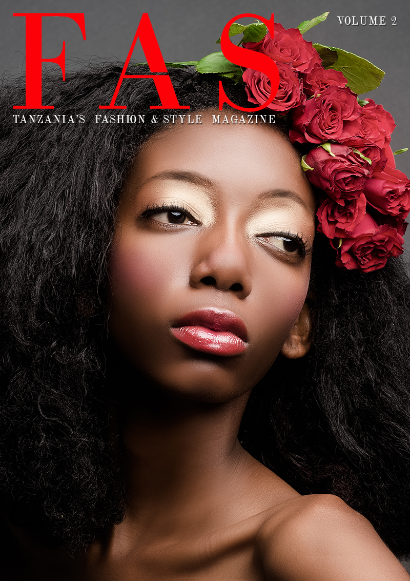 Cover of Issue 2 of FAS Magazine. April 2013, featuring model Chelsea Elna Ndalaba.