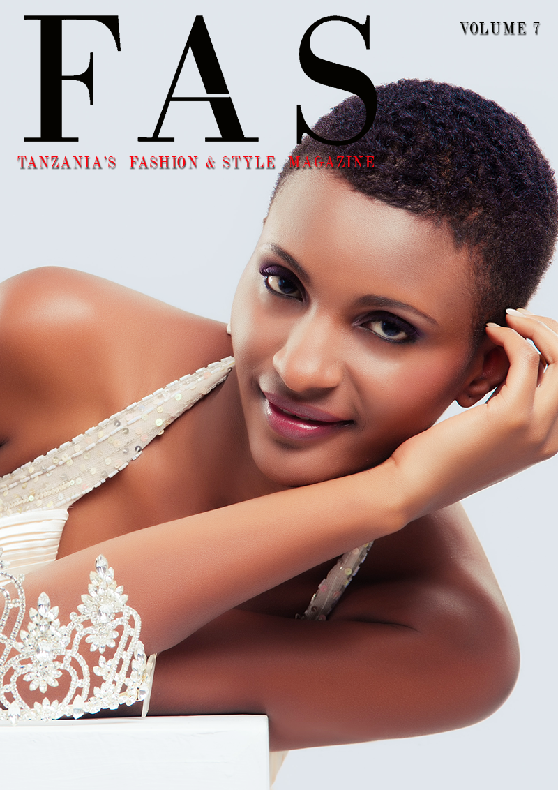 Cover of Issue 7 of FAS Magazine. September 2013, featuring Miss Universe Tanzania 2012, Winifrida Dominic.