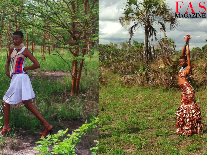 Miss Universe Tanzania 2013 Betty Boniface shooting on set at Saadani National Park, Tanzania.