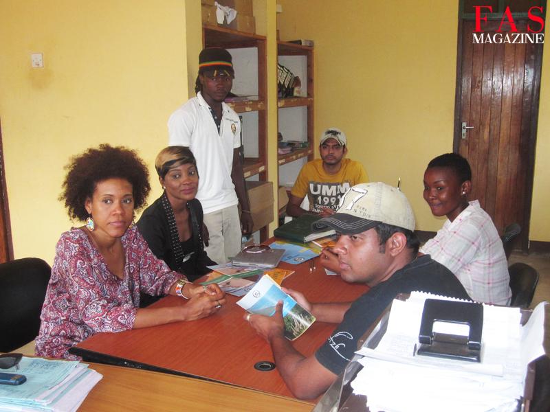 The TANAPA Calendar 2014 creative team signing in to enter Saadani National Park, Tanzania.