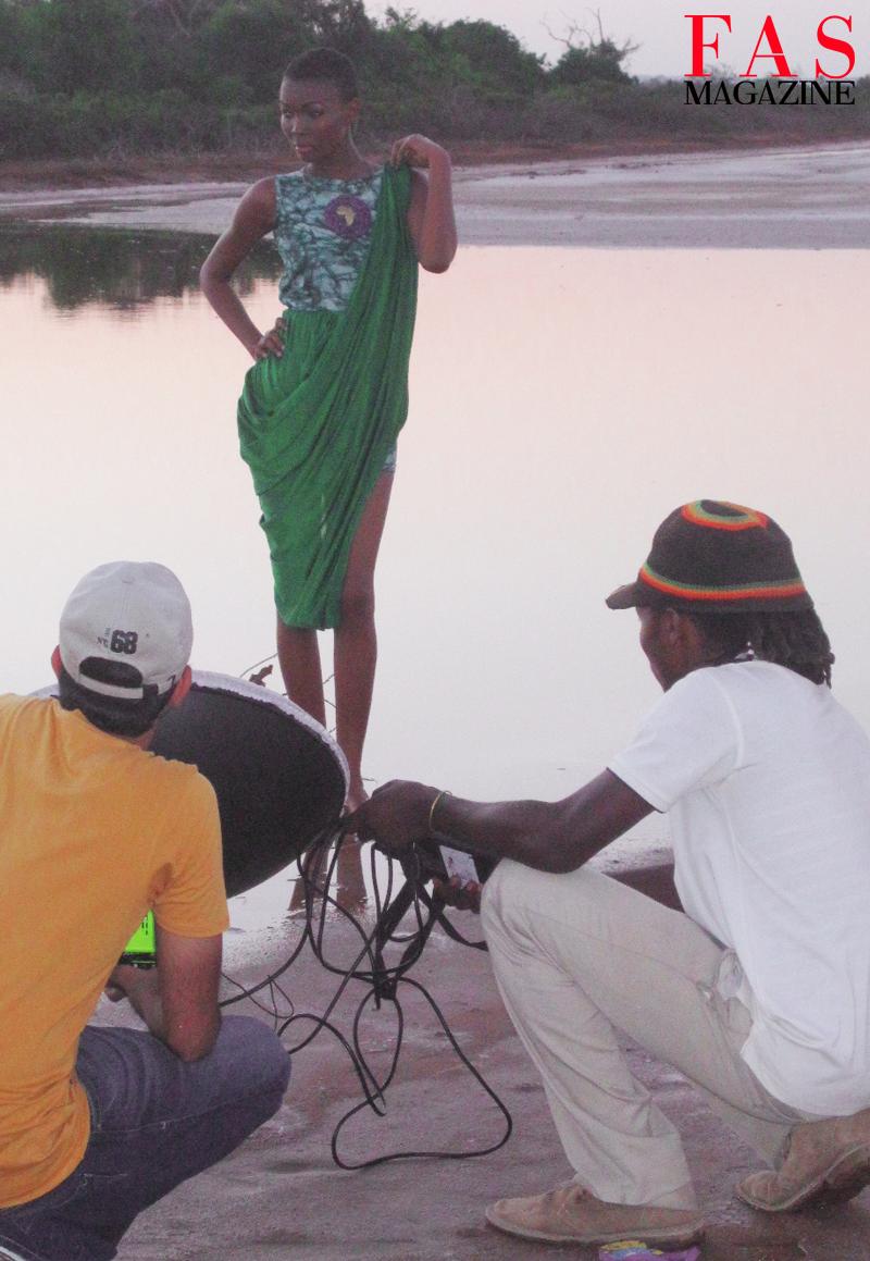 The crew with Miss Universe Tanzania 2013 Betty Boniface on set at Saadani National Park, Tanzania.