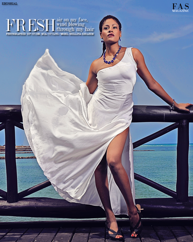 'FRESH' FAS MAGAZINE FASHION EDITORIAL. PHOTOGRAPHER TJP STUDIOS, MODEL/MUA/STYLING SHELLINA EBRAHIM