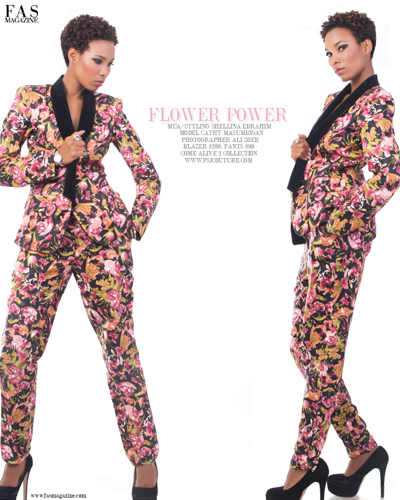 Flower Power Fashion Editorial.