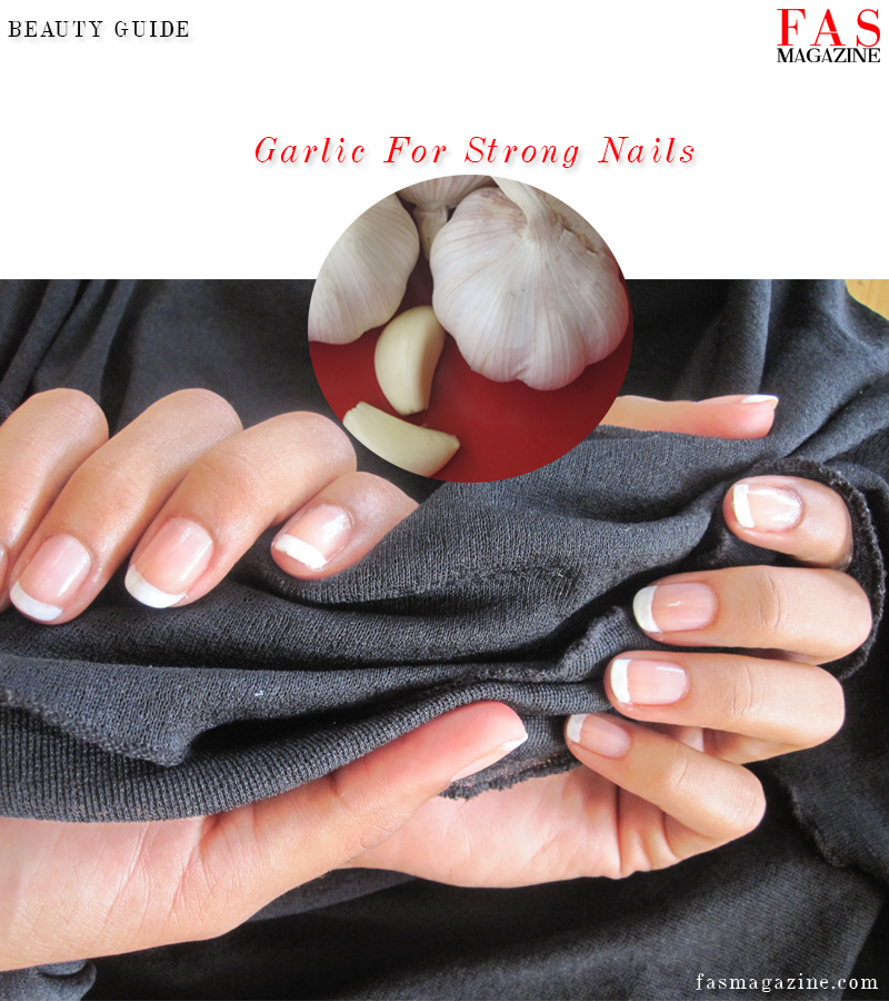 Garlic for strong nails. Photo by Shellina Ebrahim.