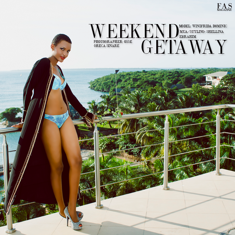 "FAS MAGAZINE FASHION EDITORIAL ""WEEKEND GETAWAY"" Photographed by Osse Greca Sinare, Model Winifrida Dominic, MUA/Styling Shellina Ebrahim"