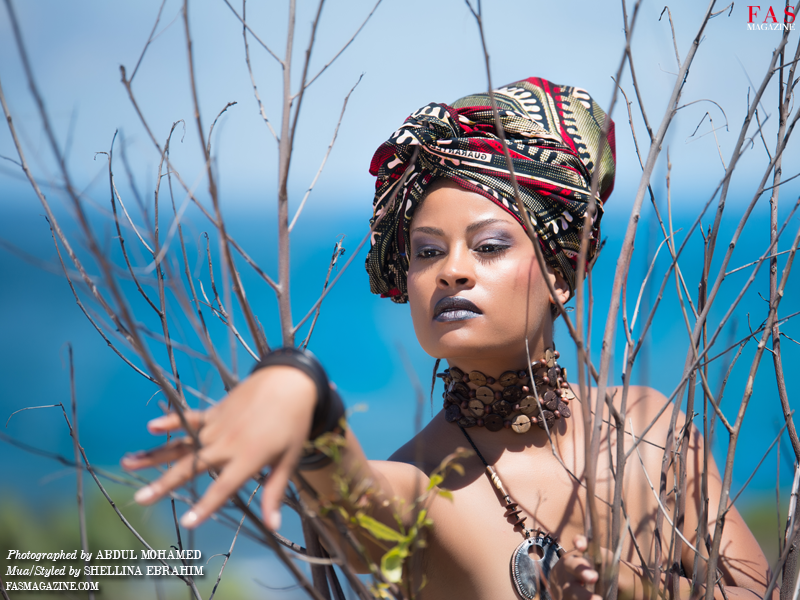 FAS Magazine Modern African Woman Editorial. Photographed by Abdul Mohamed. Hair/Make-up/Styling/Model Shellina Ebrahim