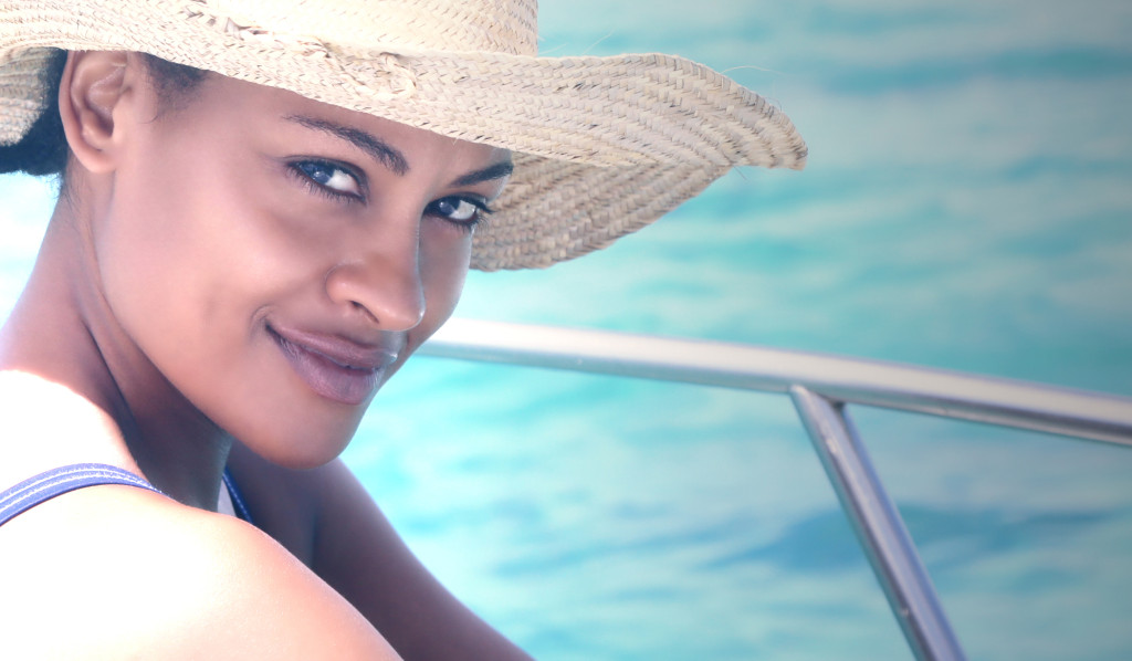 FAS Magazine Editor In Chief Shellina Ebrahim. Photographed by Hassan Abdul at Fanjove Private Island.